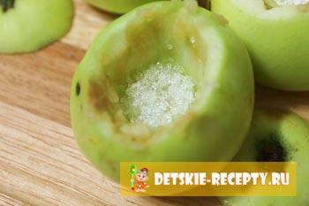 сахар в яблоке