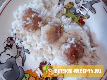 фрикадельки с рисом рецепт