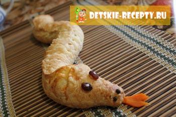 новогодний рецепт змеи из теста