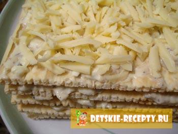 рецепт рыбного торта