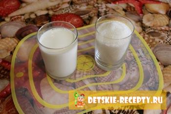 молоко и сахар для сгущенки