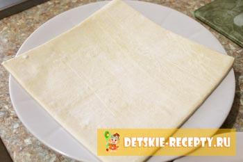 слоеное тесто для сосисек