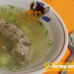 суп с куриными шейками