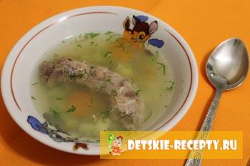готовый суп с шейками