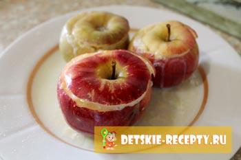 рецепт яблок в микроволновке