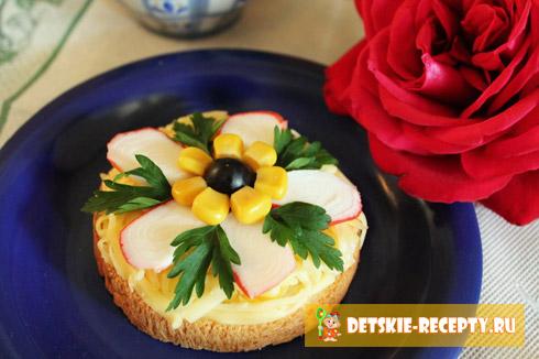 бутерброд цветочек