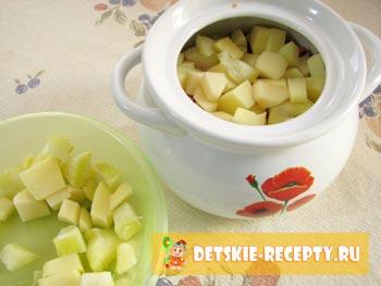 картофель и кабачок