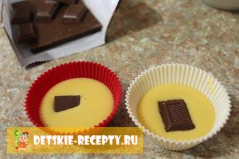 кексы с шоколадом внутри