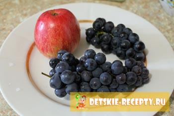 виноград и яблоко