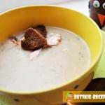 крем суп из лосося