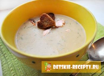 сливочный крем суп из лосося
