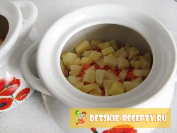 картофель для супа в горшочке