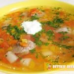 мясной суп в горшочке