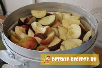 очищенные яблоки от семечек