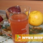 стакан с яблочным соком