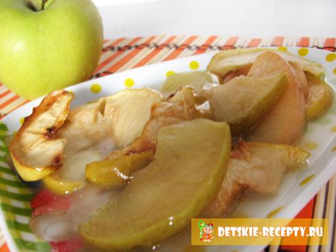 печеные яблоки дольками