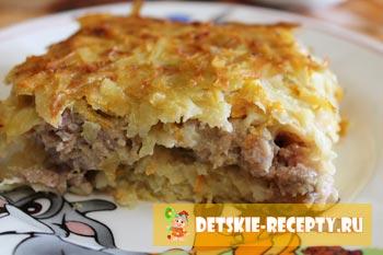 бабка картофельная в духовке на крупной терке рецепт