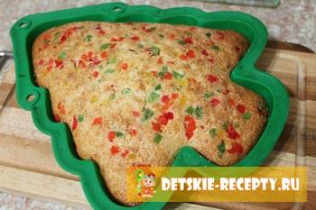 готовый пирог из манки