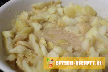 процесс томления яблок