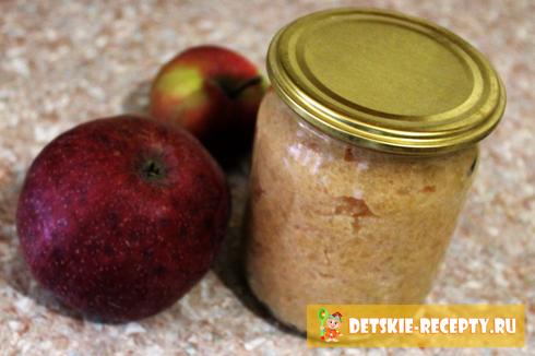 яблочное пюре со сгущенкой