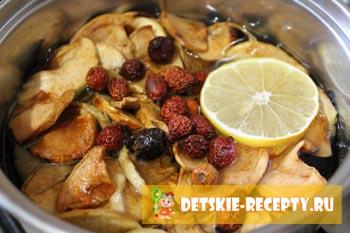 лимон и корица для зимнего напитка