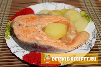 красная рыба приготовленная в пароварк