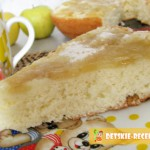 бисквит с яблоками рецепт