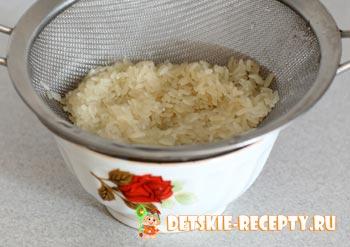 помытый рис