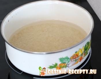 рис варится