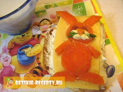 бутерброд зайка