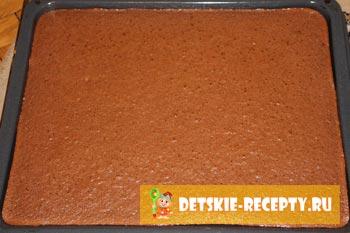 корж для торта шоколадный