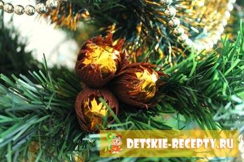 съедобные орешки на елке