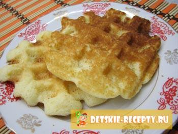 рецепт толстых вафель в седвичнице