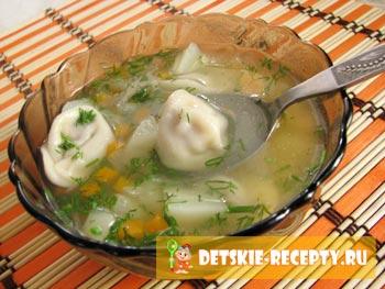 готовый суп с пельменями