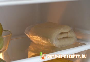 слоеное тесто в холодильнике