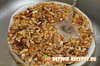 мытье грецких орехов