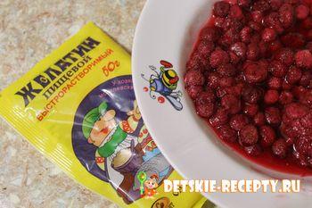 ягоды и желатин