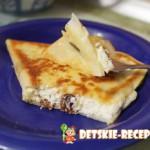 блины с сыром