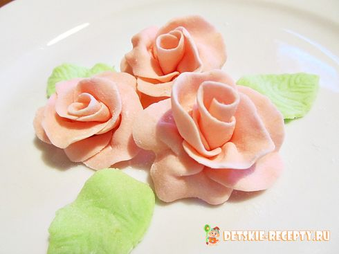 рецепт торта роза из мастики 1 кг