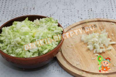 капуста и лук для борща