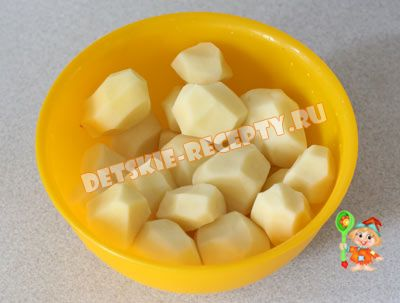 картошка очищенная