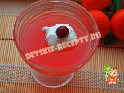 вишневое желе рецепт