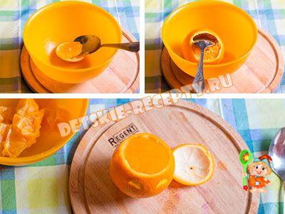 детский коктейль из апельсина