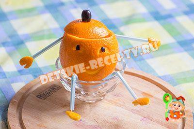 апельсиновый коктейль для детей