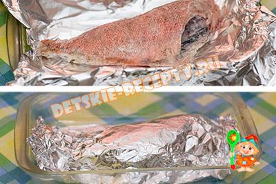 морской окунь запеченный в фольге