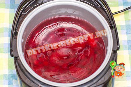 компот в мультиварке поларис 0517 из ягод