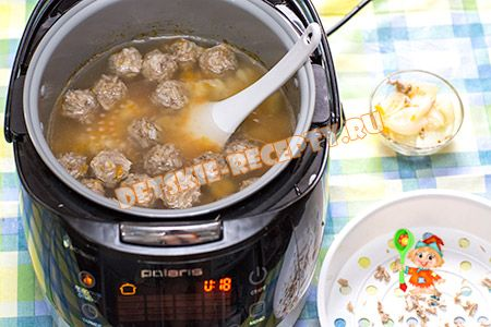 суп с фрикадельками в мультиварке поларис рецепты с фото