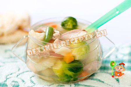 суп из кролика в мультиварке для ребенка