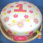 торт на 1 год для девочки своими руками