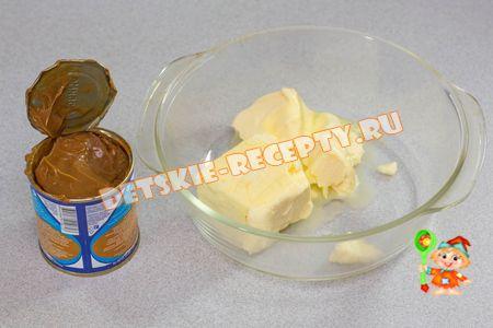 торт с кремом из сгущенки и масла рецепт с фото